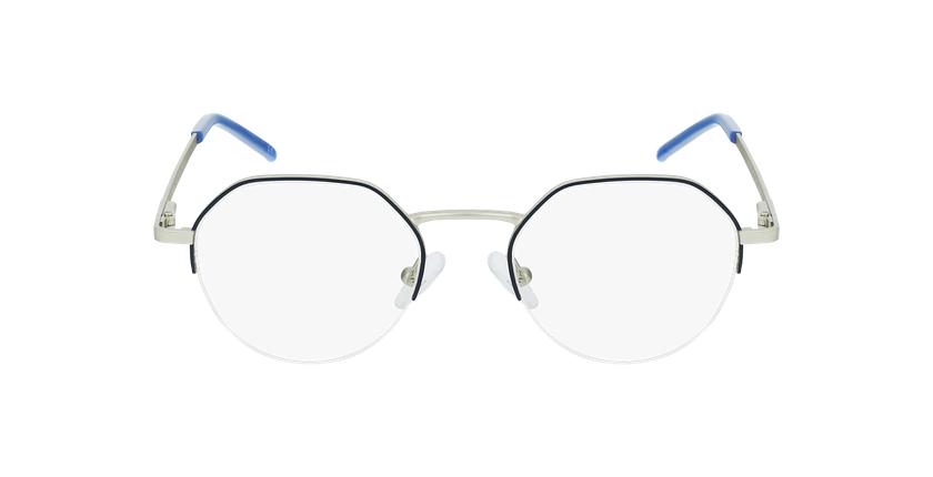 Lunettes de vue femme LAM bleu/doré - Vue de face