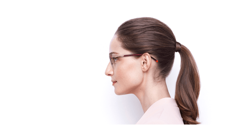 Óculos graduados senhora STRAUSS RD tartaruga /vermelho - Vista lateral