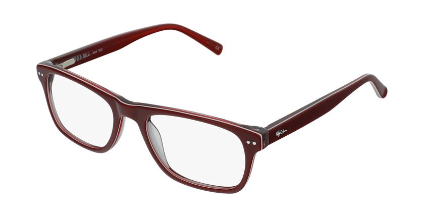 Óculos graduados criança TED RD (TCHIN-TCHIN +1€) vermelho/branco - vue de 3/4