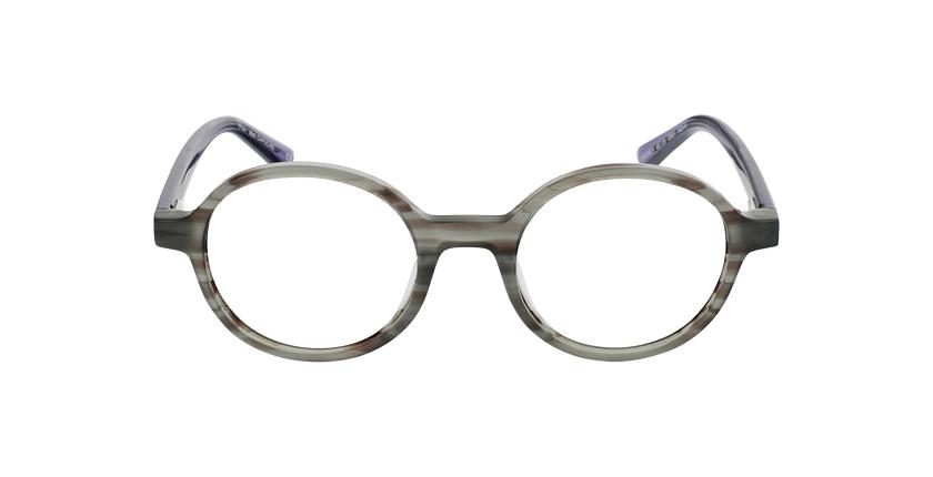 Óculos graduados senhora CAPUCINE GR (TCHIN-TCHIN +1€) cinzento - Vista de frente