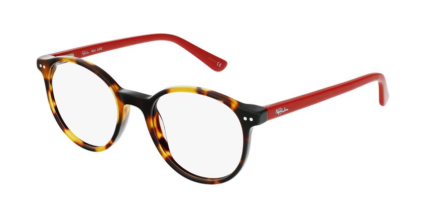 Óculos graduados criança JUDE TORD (TCHIN-TCHIN +1€) tartaruga /vermelho - vue de 3/4