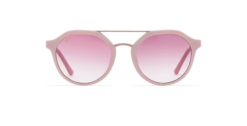 Lunettes de soleil femme KYLIE rose - Vue de face