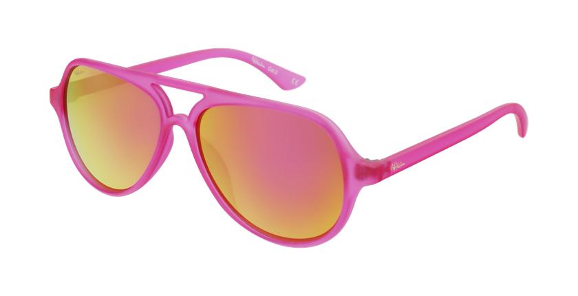 Óculos de sol criança RONDA PK rosa - vue de 3/4