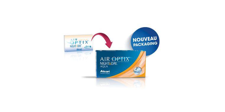 Lentilles de contact Air Optix Aqua Night Day 6L