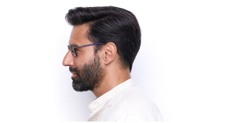 Óculos graduados homem MAGIC 72 BL azul - Vista lateral