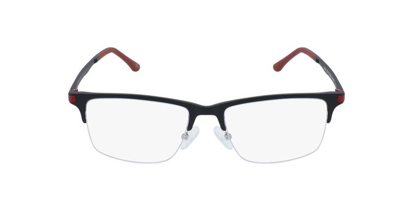 Óculos graduados homem MAGIC 56 BLUEBLOCK - BLOQUEIO LUZ AZUL preto/vermelho - Vista de frente