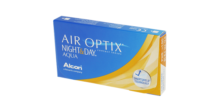 Lentilles de contact Air Optix Aqua Night Day 6,4 6L