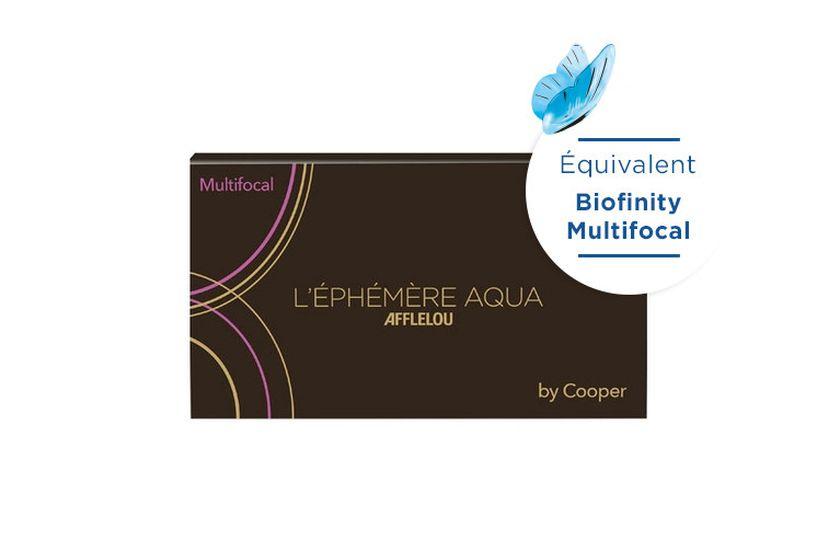 Lentilles de contact Ephémère Aqua Mensuelle Multifocal D 6L - vue de face