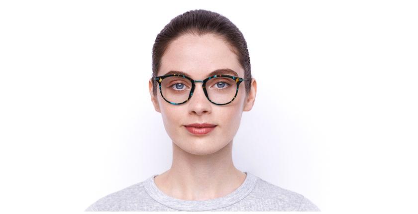 Óculos graduados ANGIE BL (TCHIN-TCHIN +1€) azul - Vista de frente