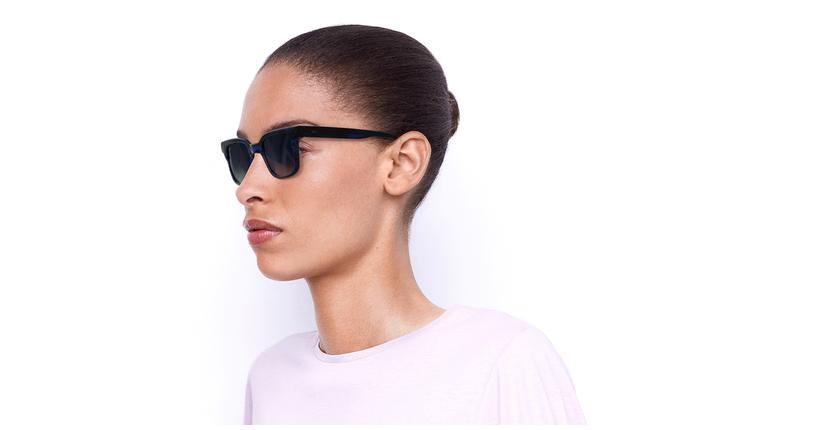 Óculos de sol senhora KAREN TOBL tartaruga/azul - vue de 3/4