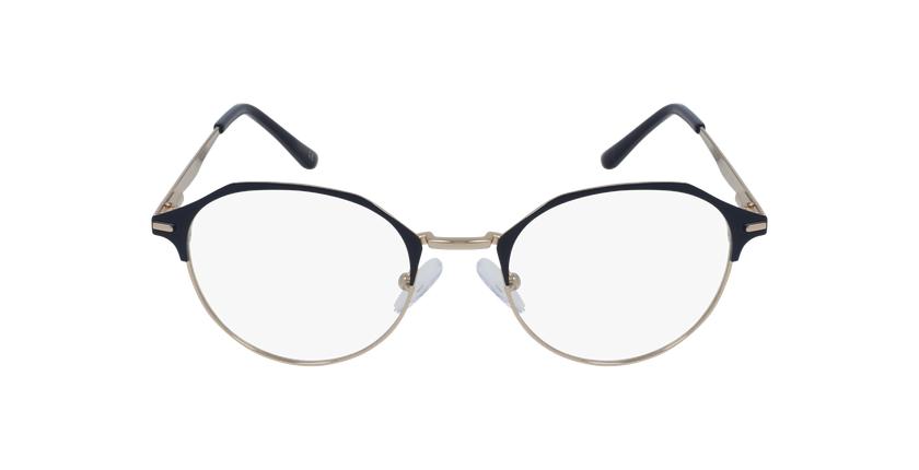 Lunettes de vue femme OAF20524 bleu/doré - Vue de face