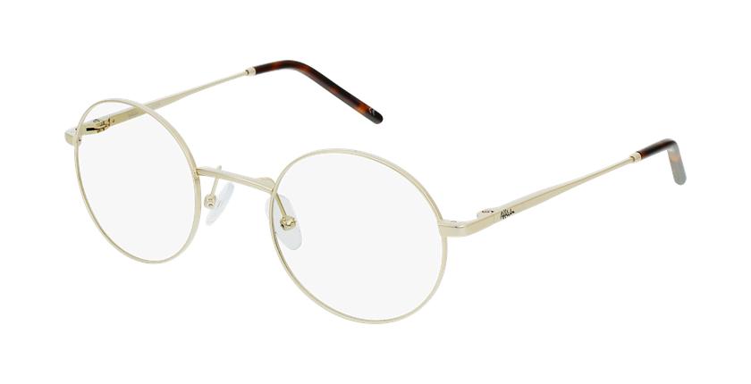 Óculos graduados homem SVEN GD (TCHIN-TCHIN +1€) dourado - vue de 3/4