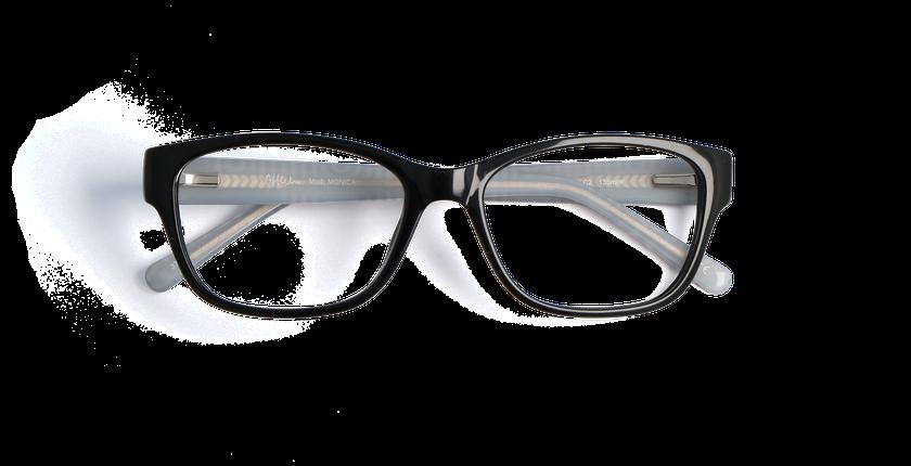 Lunettes de vue femme MONICA noir - vue de face