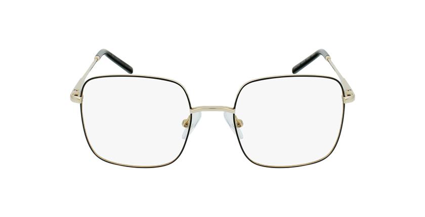 Óculos graduados criança STELLA BK (TCHIN-TCHIN +1€) preto/dourado - Vista de frente