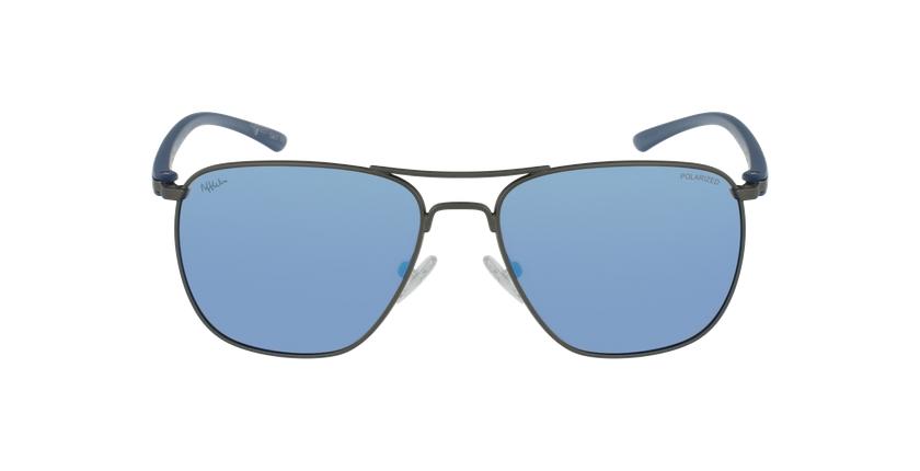 Óculos de sol homem ENEKO GU prateado/azul - Vista de frente