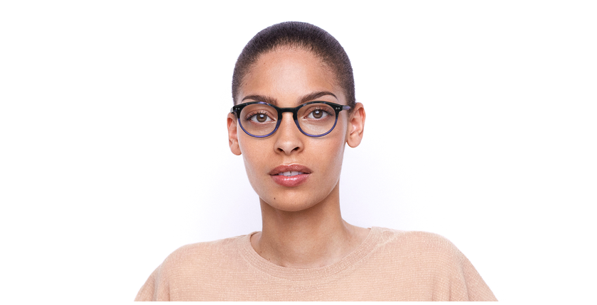 Óculos graduados VIVALDI PU violeta - Vista de frente