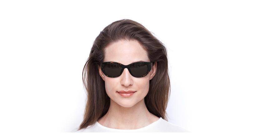 Lunettes de soleil femme VANESSA écaille - Vue de face