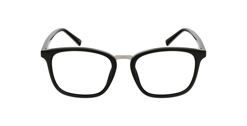 Lunettes de vue homme PAULO noir/argenté - Vue de face