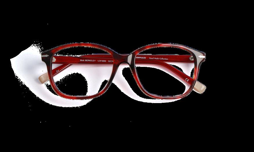 Lunettes de vue femme BERKELEY rouge