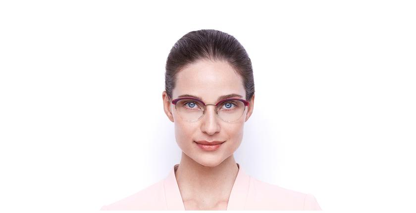 Óculos graduados senhora STRAUSS RD tartaruga /vermelho - Vista de frente