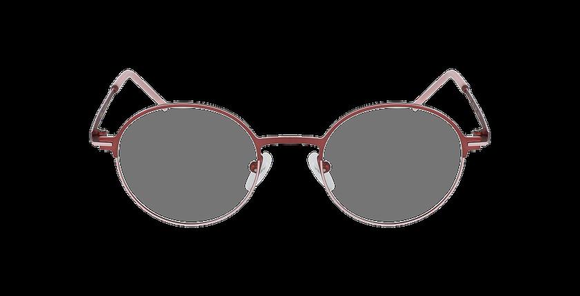 Lunettes de vue femme VENUS rouge/rose - Vue de face