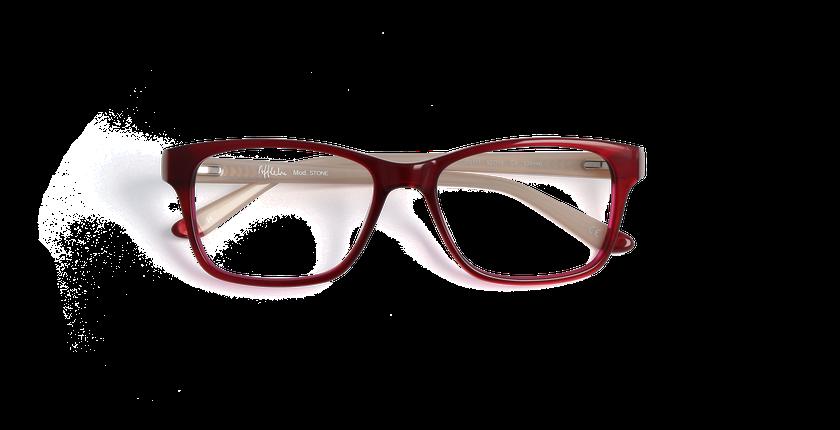 ... Gafas graduadas mujer STONE rojo marrón - vista de frente ... 12da45134f12