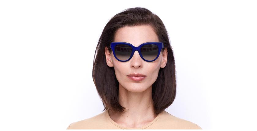 Óculos de sol senhora BRITANY BL azul - Vista de frente