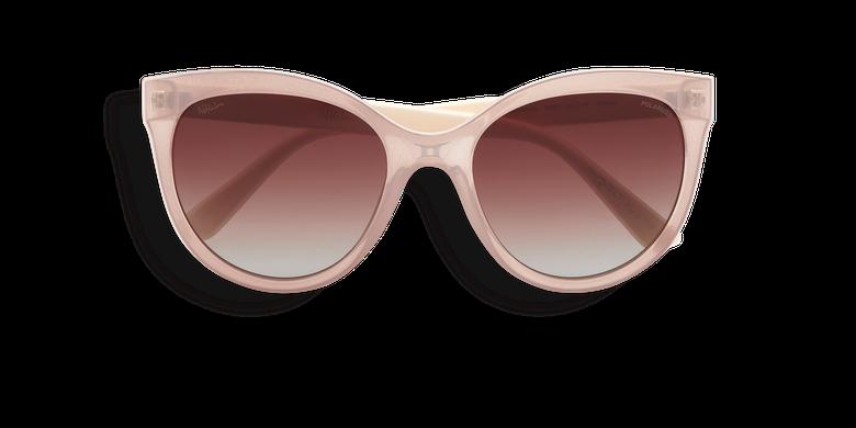 Lunettes de soleil femme AMANA rose/blanc