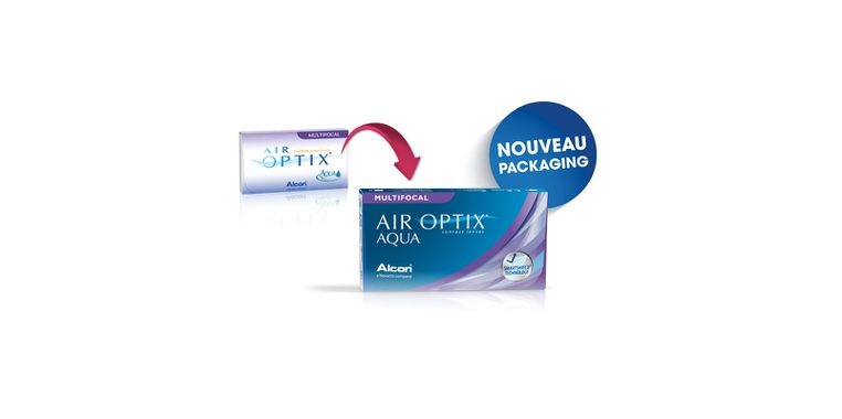Lentilles de contact Air Optix Aqua Multifocal 3L