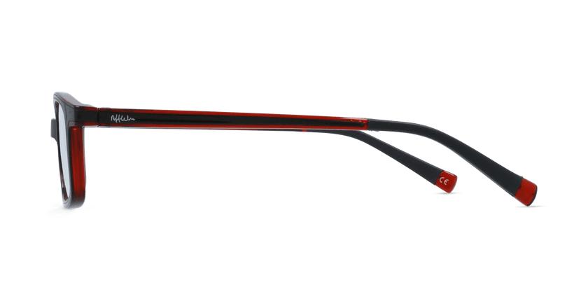 Óculos graduados criança RFOP1 BK REFORM preto/vermelho - Vista lateral