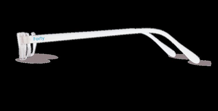 Lunettes de vue AFFLELOU FORTY cristal - Vue de côté