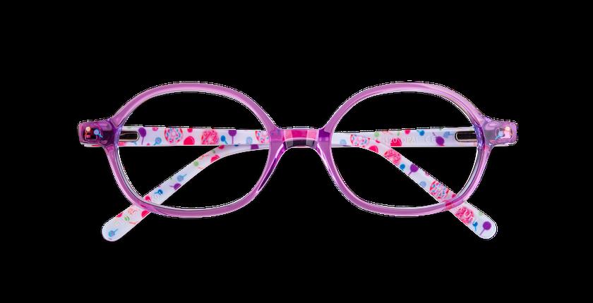 95767db8a ... Óculos graduados criança FLUFFY1 ROSA rosa - Vista de frente ...