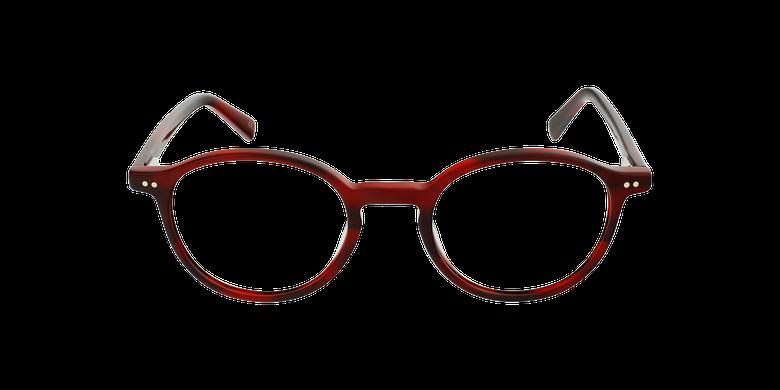 Lunettes de vue homme RENAN rougeVue de face