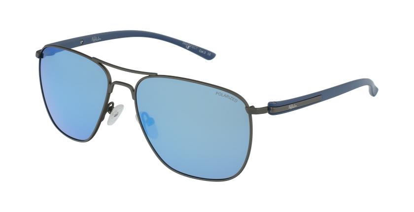 Óculos de sol homem ENEKO GU prateado/azul - vue de 3/4