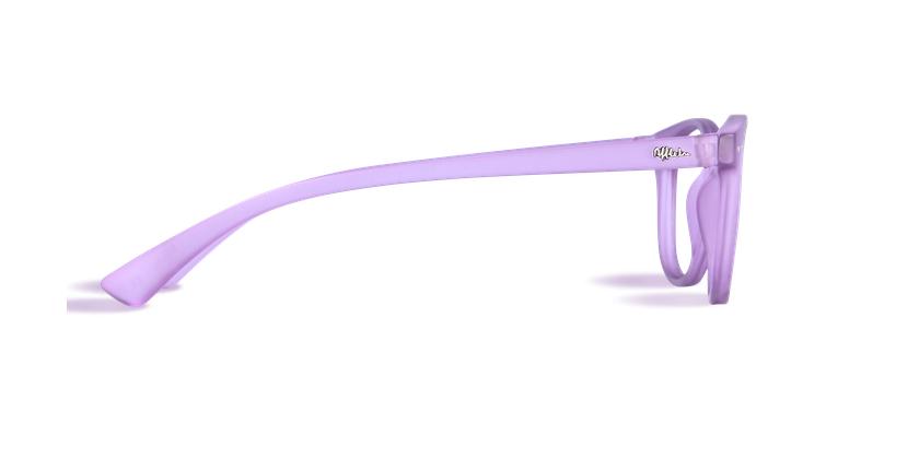 Óculos graduados MOD01P violeta - Vista lateral