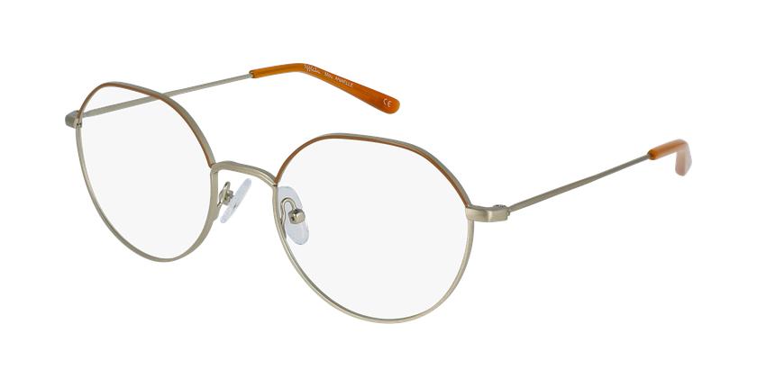 Óculos graduados senhora Anaelle brgd (Tchin-Tchin +1€) castanho/dourado - vue de 3/4