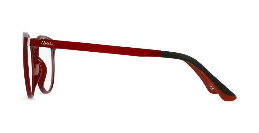Lunettes de vue femme MAGIC 36 BLUEBLOCK rouge - Vue de côté