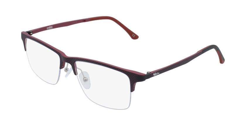 Óculos graduados homem MAGIC 56 BLUEBLOCK - BLOQUEIO LUZ AZUL vermelho - vue de 3/4