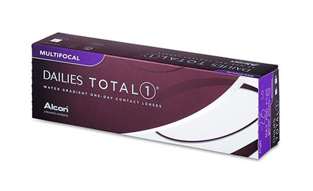 Lentilles de contact Dailies Total 1 Multifocal 30L - Vue de face