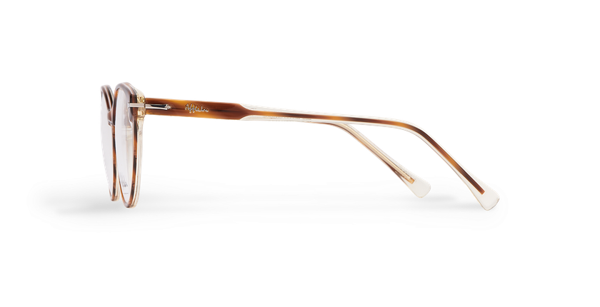 Óculos graduados senhora BELLEFONTAINE tartaruga /prateado - Vista lateral
