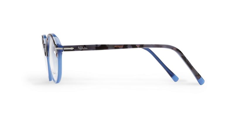 Lunettes de vue homme MORBIER écaille/bleu - Vue de côté