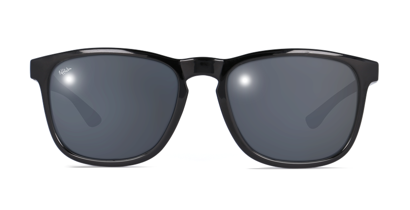 Lunettes de soleil JERRY POLARIZED noir - vue de face