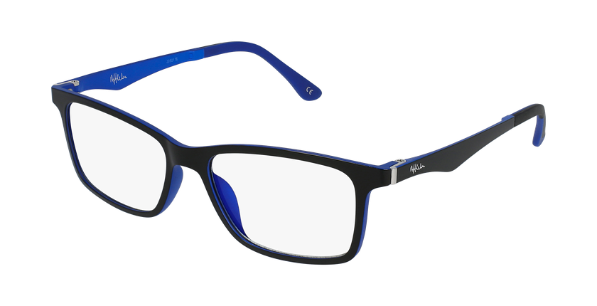 Óculos graduados homem MAGIC 32 BK BLUEBLOCK - BLOQUEIO LUZ AZUL preto/azul - vue de 3/4