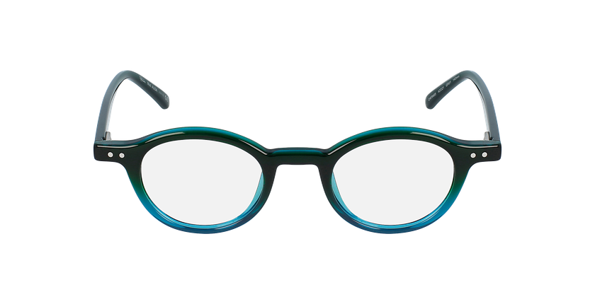 Óculos graduados senhora ALIDA GR (TCHIN-TCHIN +1€) verde - Vista de frente