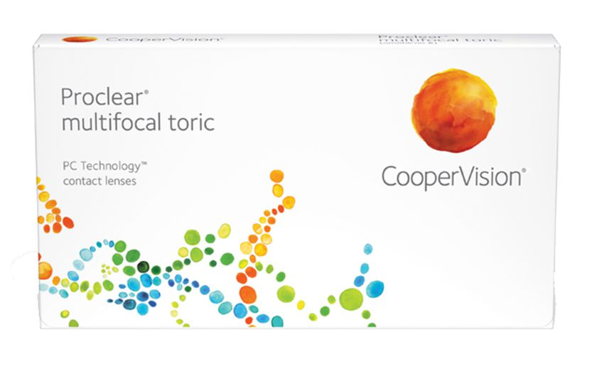 Lentilles de contact Proclear® Multifocal Toric N 3L - vue de face