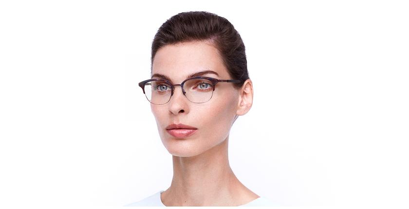 Óculos graduados BEKSINSKI RD vermelho - vue de 3/4