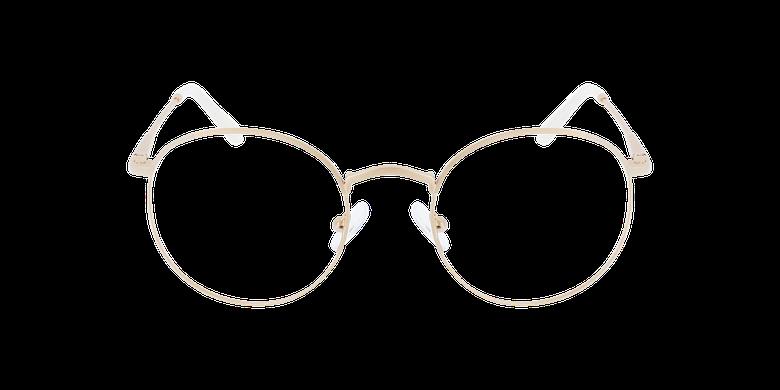 Lunettes de vue femme MELINA doréVue de face