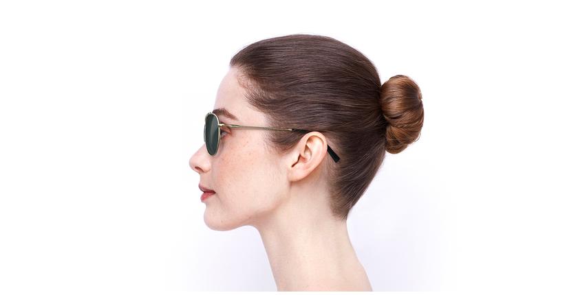 Óculos de sol JULIAN POLARIZED GD dourado - Vista lateral