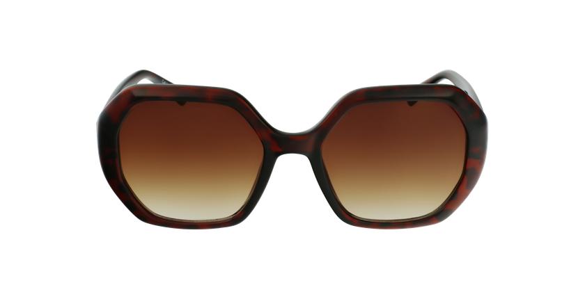 Óculos de sol senhora FAURA TO tartaruga  - Vista de frente