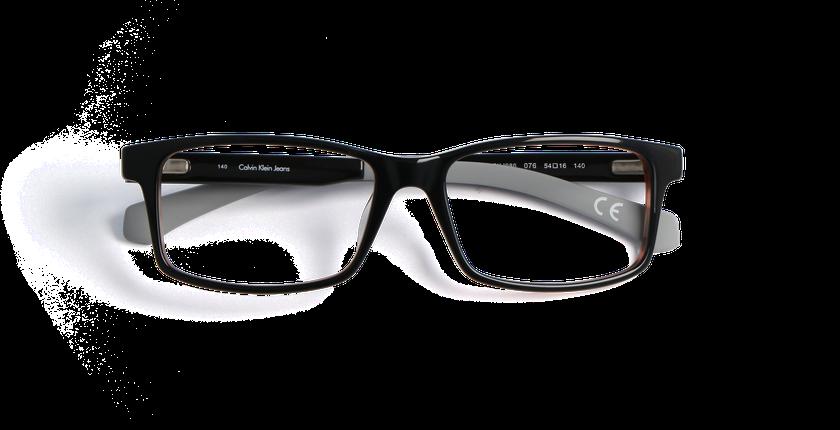 Gafas graduadas hombre CALVIN KLEIN JEANS negro/marrón - vista de frente